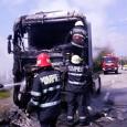 A fost agitaţie mare joi pe strada Slobozia din municipiu, unde capul tractor al unui tir a luat foc în timp ce maşina era în mers. Şoferul era la volan...